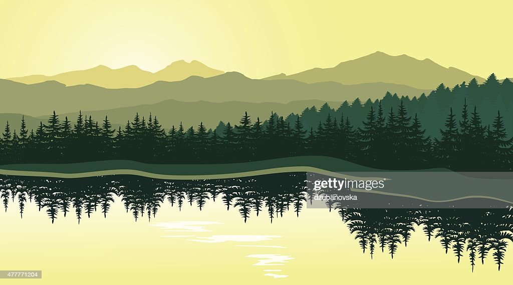Beautiful mountain landscape with reflection in the lake