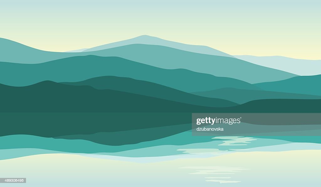 Beautiful mountain landscape with reflection in the water