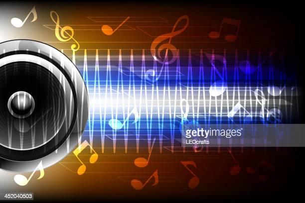 beautiful music background - treble clef stock illustrations, clip art, cartoons, & icons