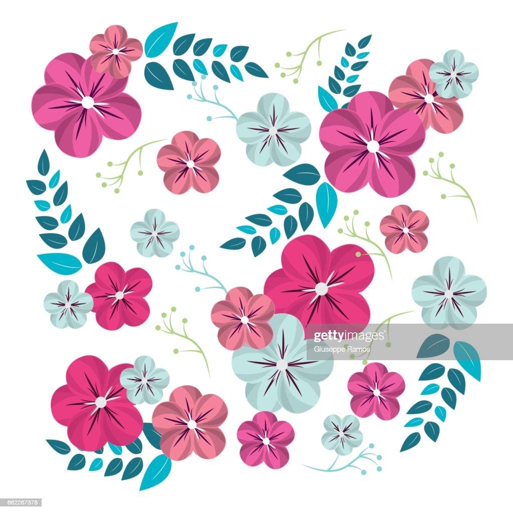 Beautiful natural flowers decoration design vector art getty images beautiful natural flowers decoration design vector art izmirmasajfo
