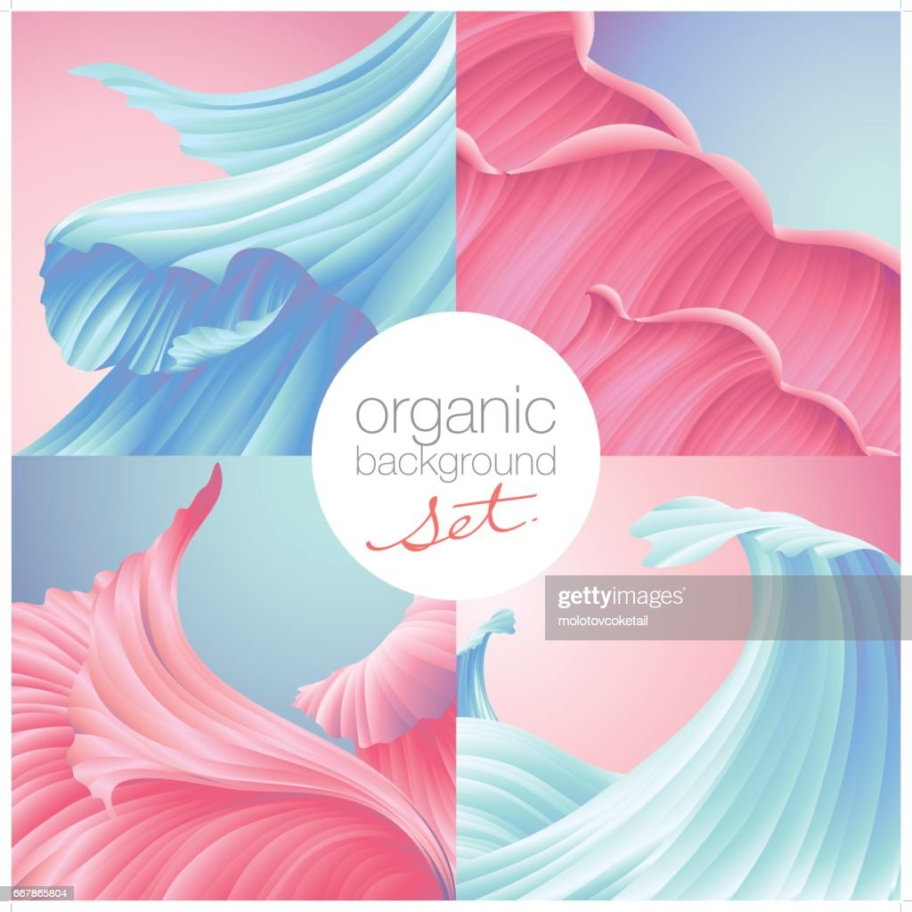 beautiful natural texture background set in pink & cyan colors