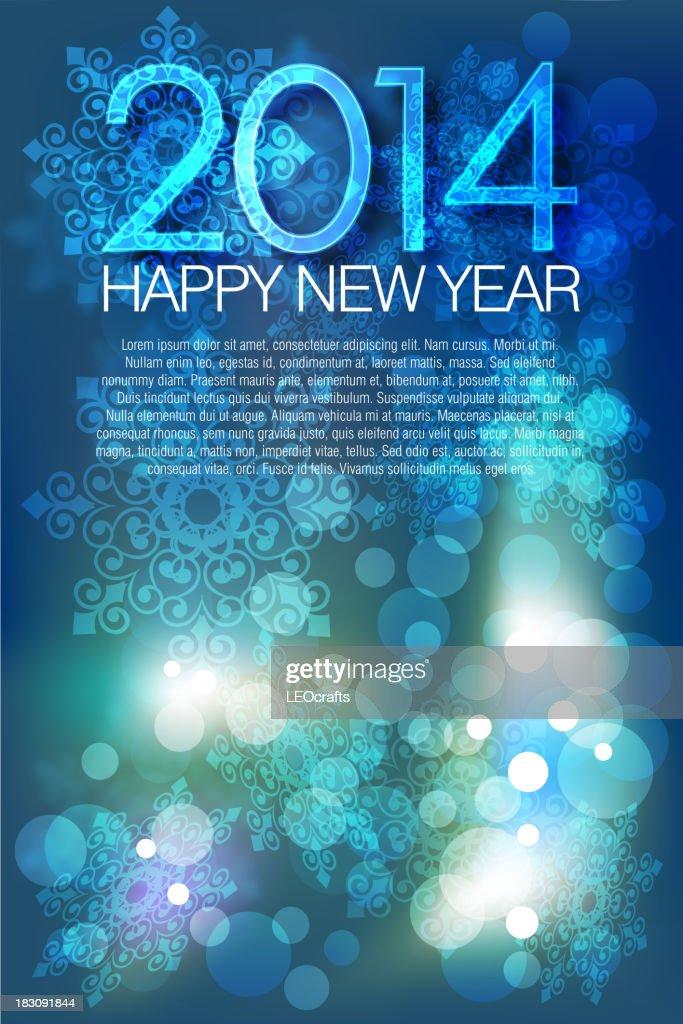 2014, Beautiful New Year Celebration Background