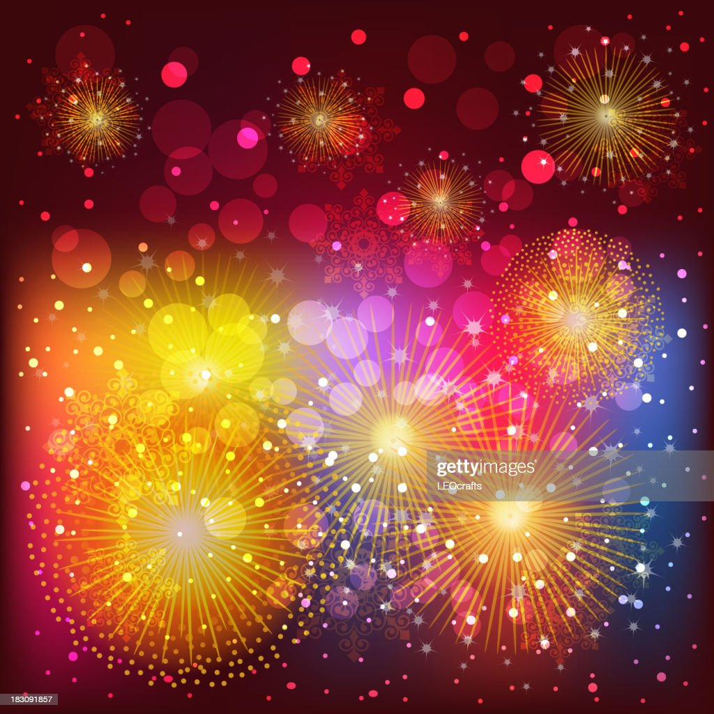 2014 beautiful new year celebration background vector art