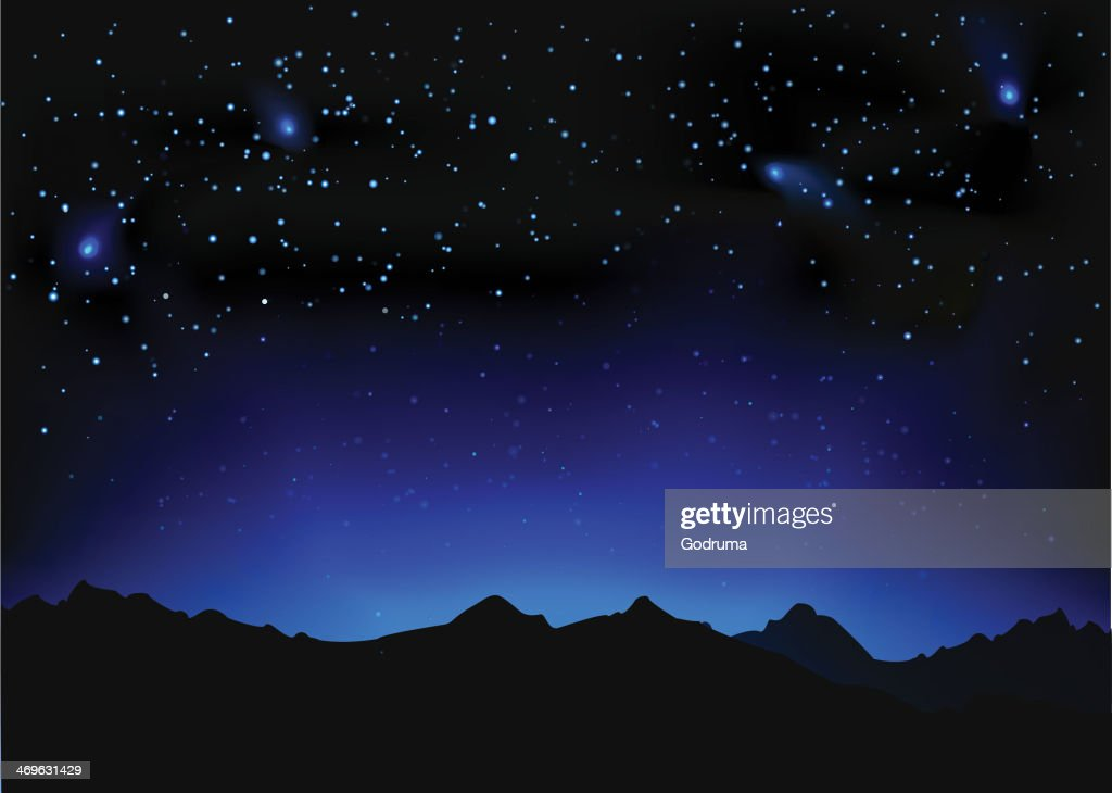 Beautiful night space landscape