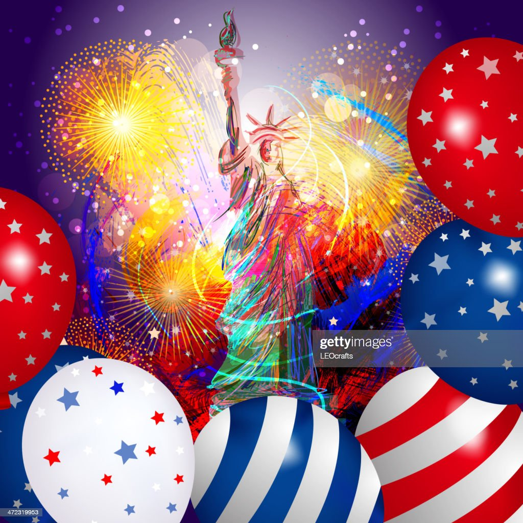 Patriotic Christmas Background.Beautiful Patriotic Background High Res Vector Graphic