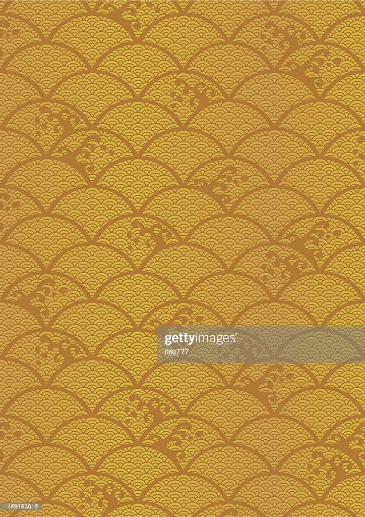 Beautiful pattern of wave