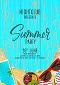 Beautiful poster invitation for summer party