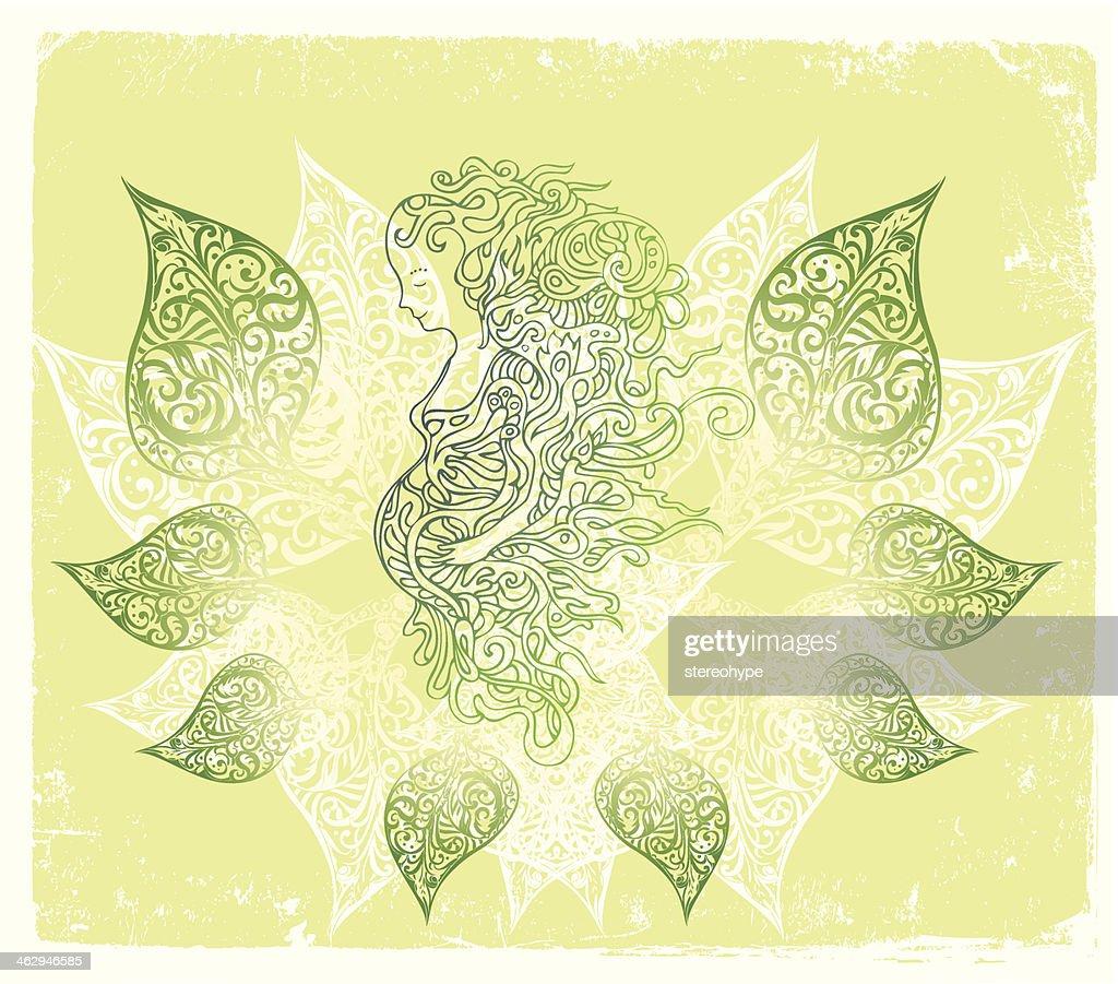 beautiful pregnancy : stock illustration
