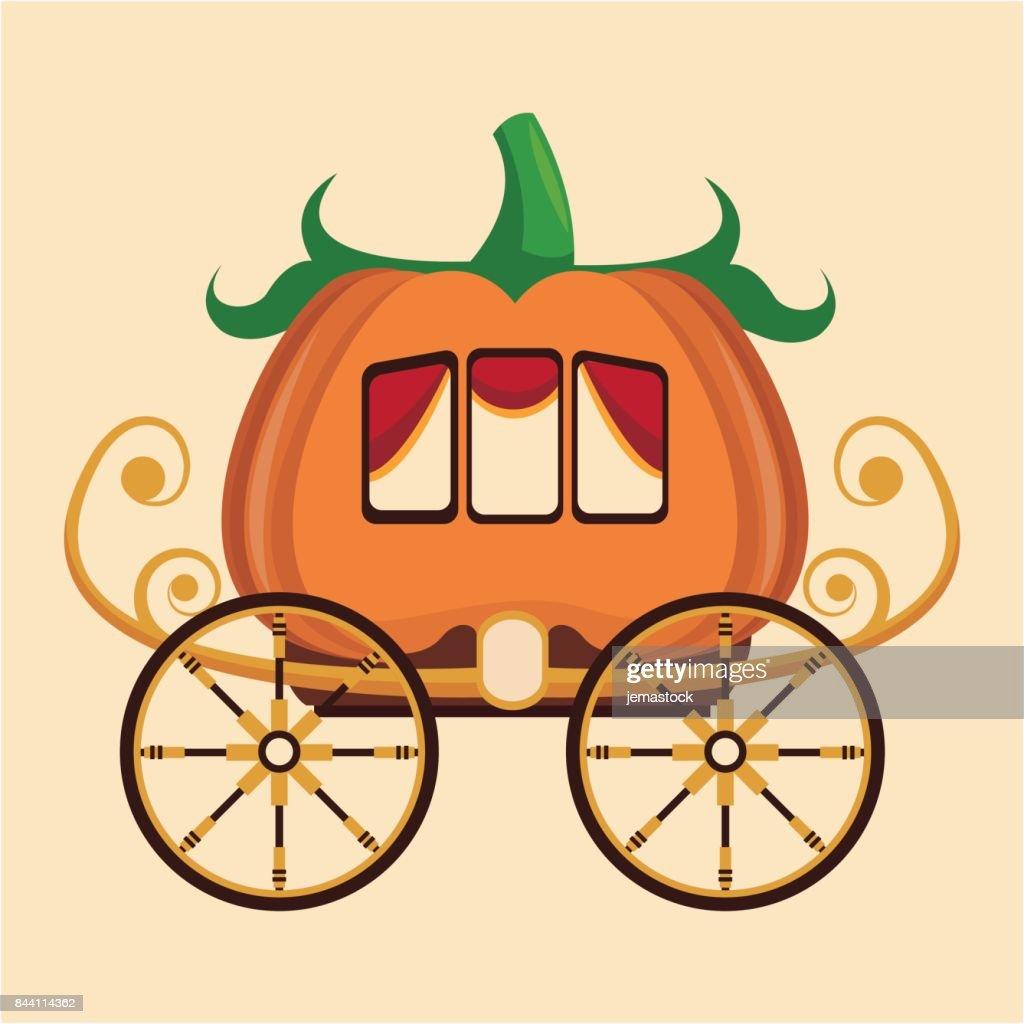 beautiful pumpkin carriage wheel gold