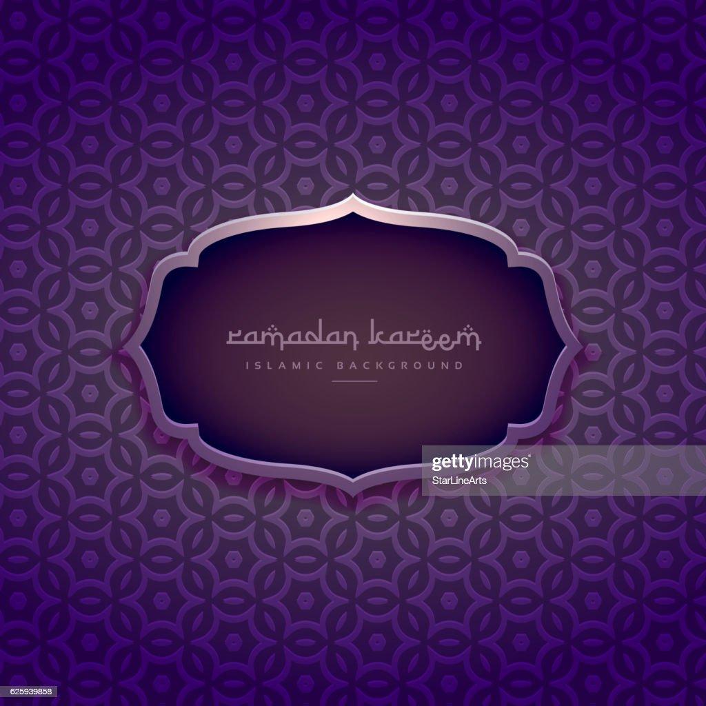 beautiful purple ramadan kareem background
