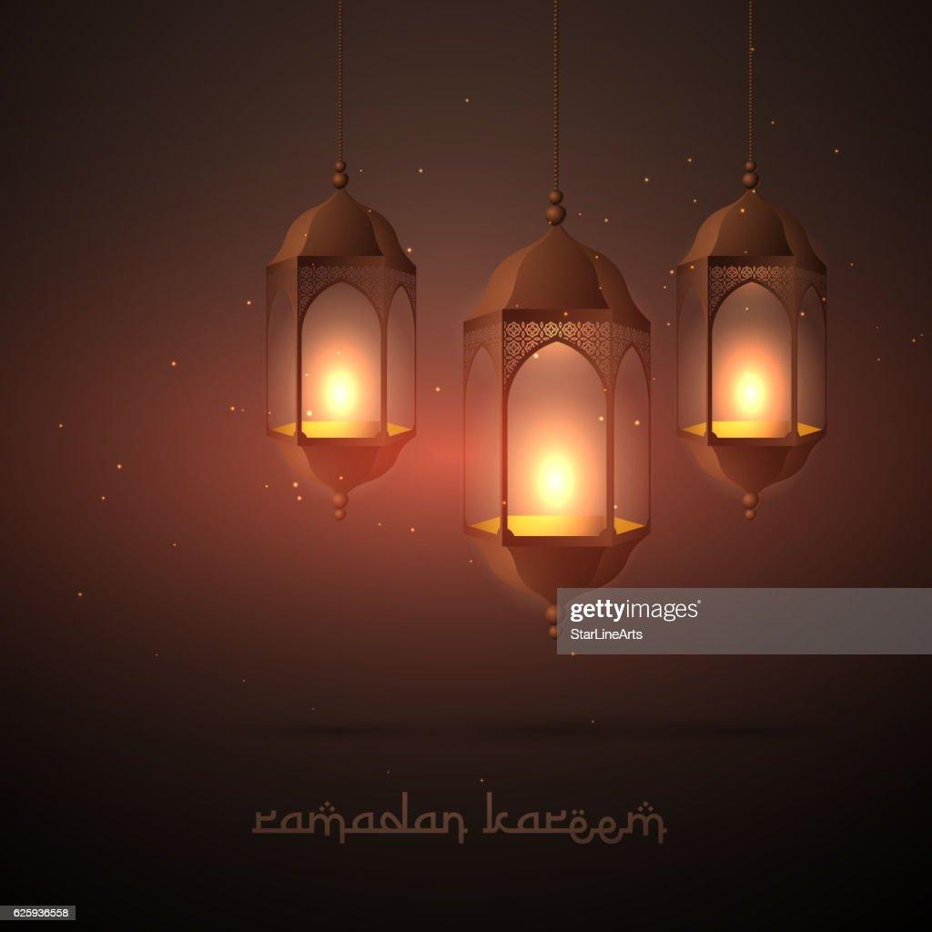 beautiful ramadan lamps hanging