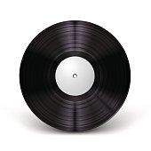 Beautiful, realistic vinyl record mockup