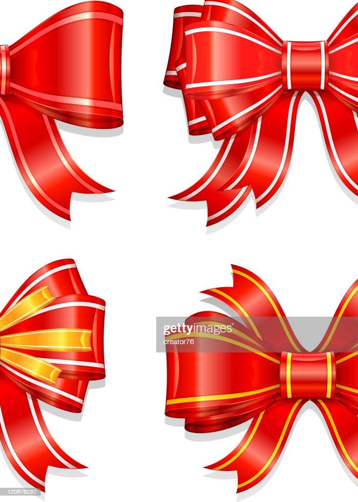 Schöne Rote Schleife Stock Illustration Getty Images