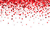 Beautiful red falling hearts background – stock vector