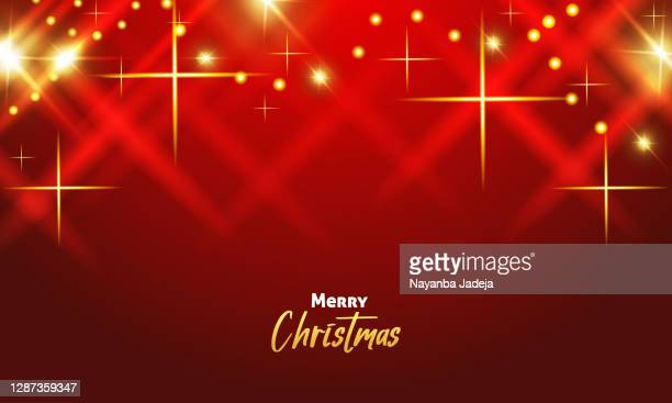 beautiful red merry christmas background - heading the ball stock illustrations
