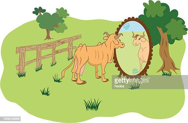 beautiful reflection - slim stock illustrations