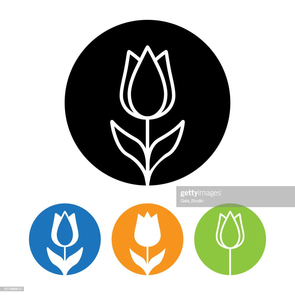 Beautiful Rose flower icon and logo in trendy linear style.
