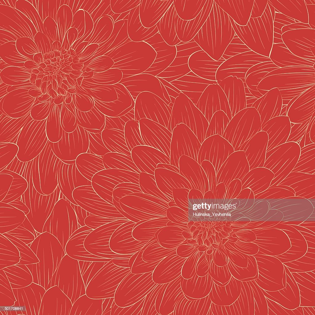 Beautiful seamless pattern with flowers.