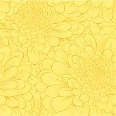 Beautiful seamless pattern with hand-drawn flowers.