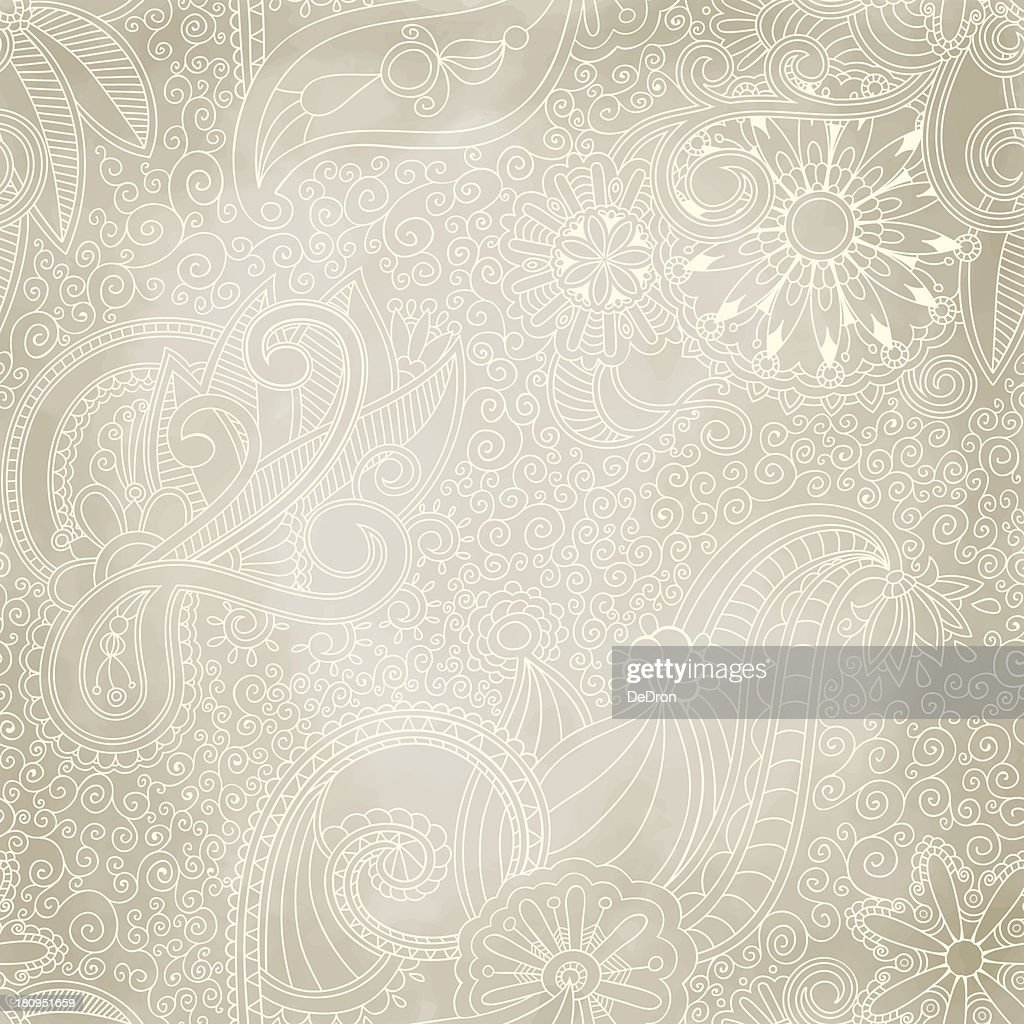 Beautiful seamless vintage pattern