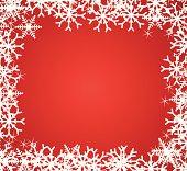 Beautiful snowflakes frame.