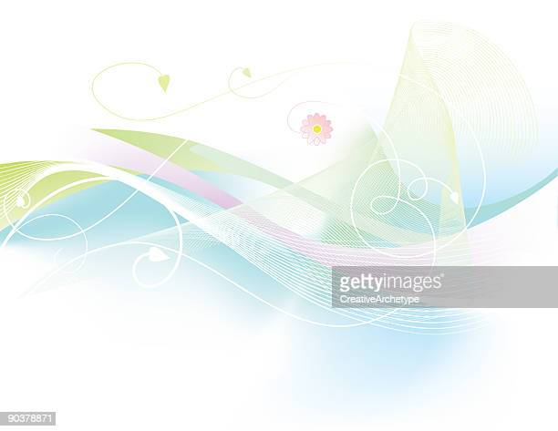 beautiful soft display of pinks, blues and green - high key stock illustrations, clip art, cartoons, & icons