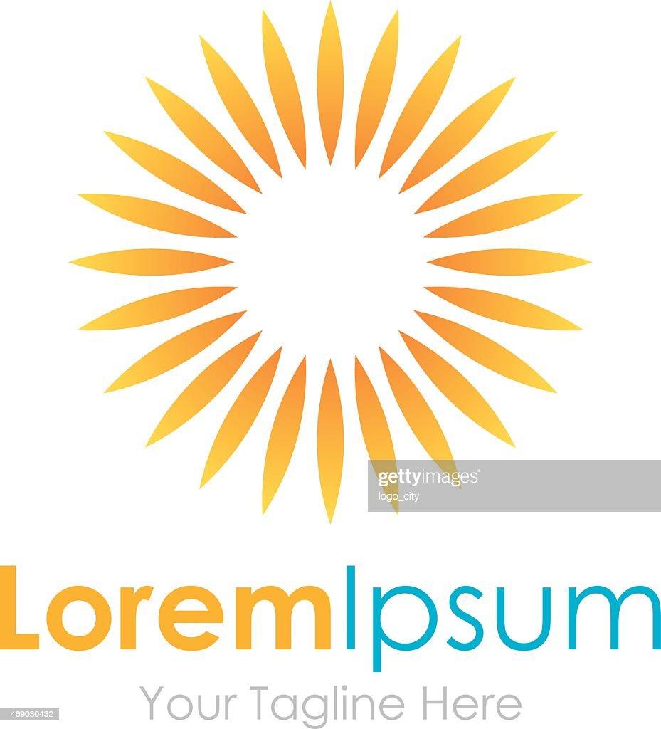 Beautiful summer Sun warm simple business icon logo