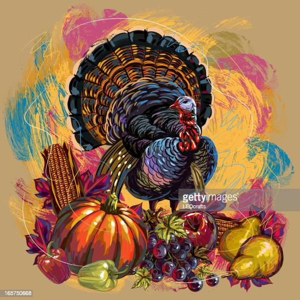 beautiful thanksgiving background - thanksgiving holiday stock illustrations, clip art, cartoons, & icons