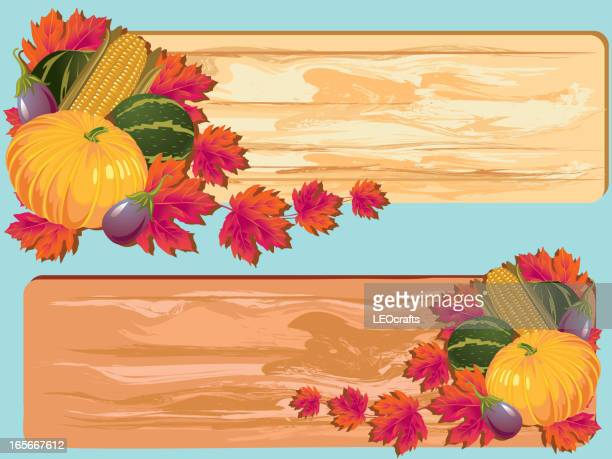 beautiful thanksgiving background/banners - zea stock illustrations, clip art, cartoons, & icons
