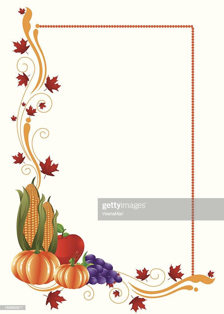Beautiful Thanksgivingautum Frame Vector Art | Getty Images