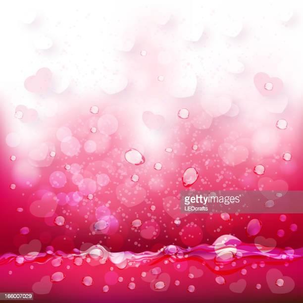 beautiful valentine's day background - fruit juice stock illustrations, clip art, cartoons, & icons
