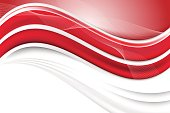 Beautiful vector abstract red background with waves