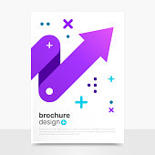 Beautiful Vector Brochure Design. Progress Vector Flyer Mockup. Brochure Templates