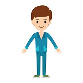 Beautiful vector cartoon fashion boy.