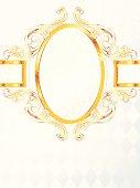 Beautiful vertical rococo wedding banner