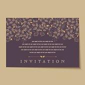 Beautiful vintage invitation cards Layouts
