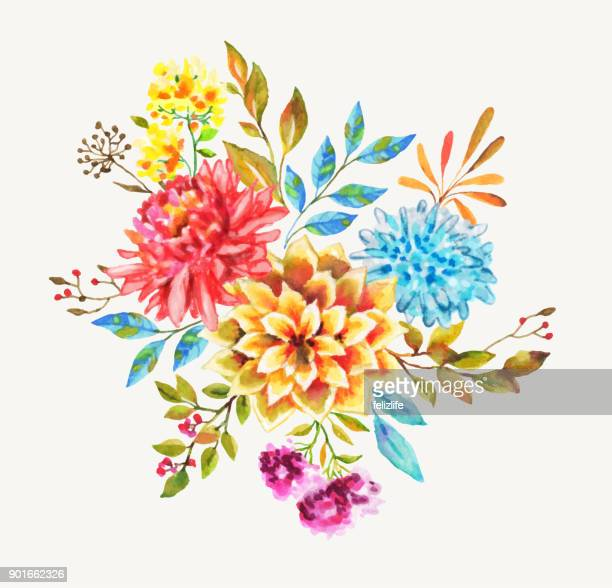 beautiful watercolor flowers for you design
