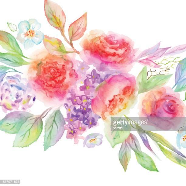 美しい水彩花