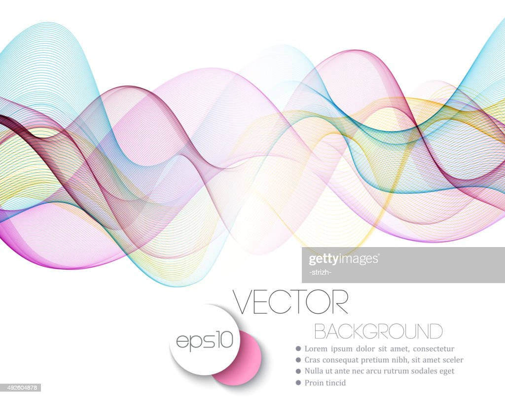 Beautiful waved lines Background