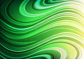 Beautiful Waving green Abstract background,Wonder and Curve concept,design for texture and template,with space for text input,Vector,Illustration.