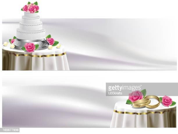 Beautiful Wedding Cake/Banners