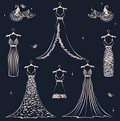 Beautiful wedding dress set
