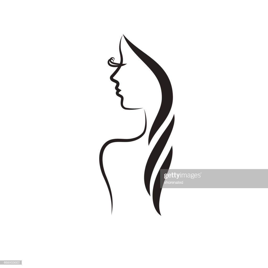 Beautiful woman vector logo template