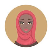 Beautiful young lovely Muslim woman Girl portrait in hijab