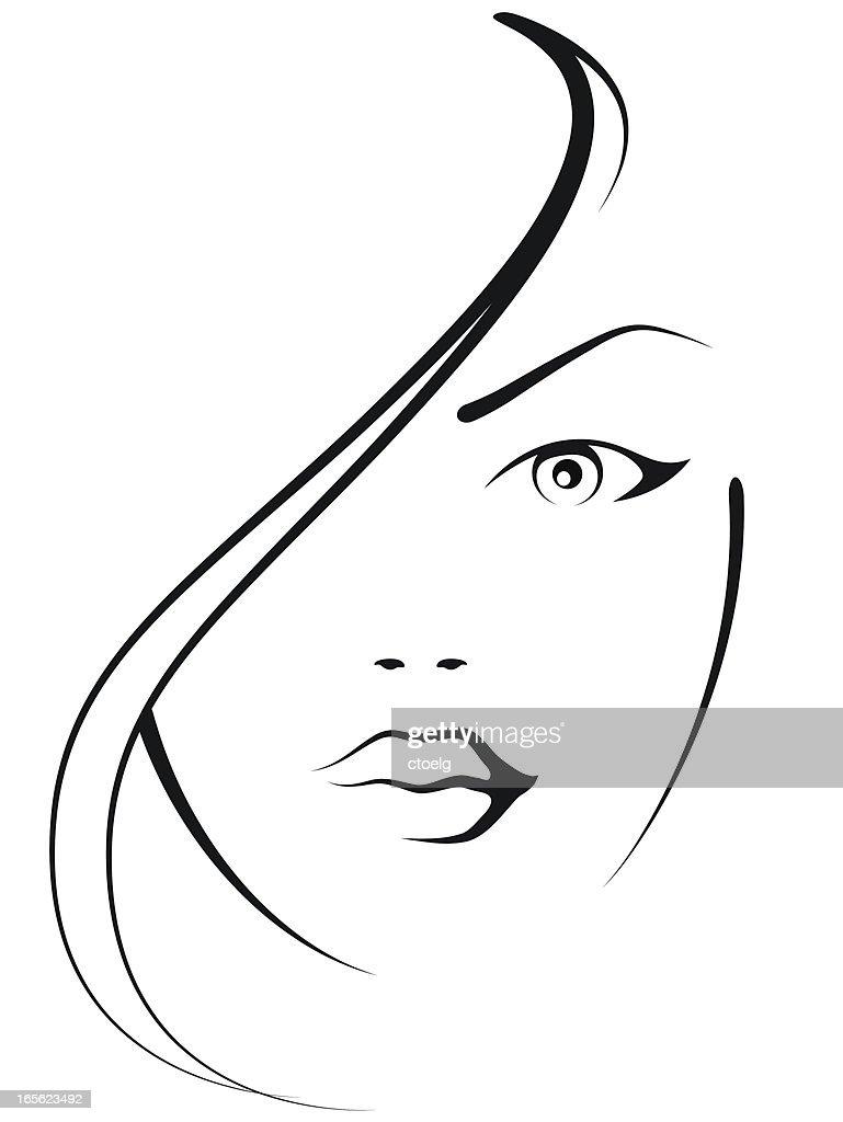beautifulwoman : Stock-Illustration