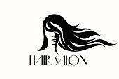 Beauty and hair salon vector logo