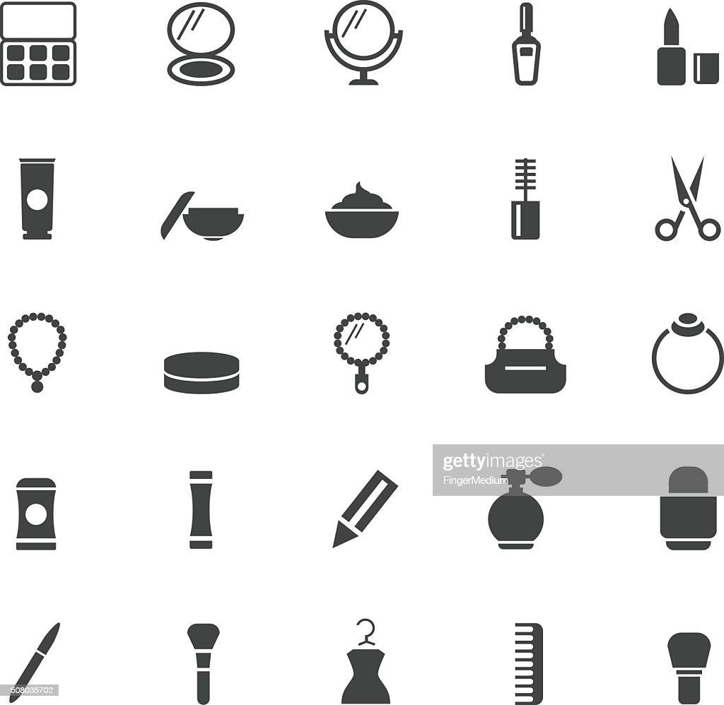 Schönheit und Make-up-Symbole : Stock-Illustration