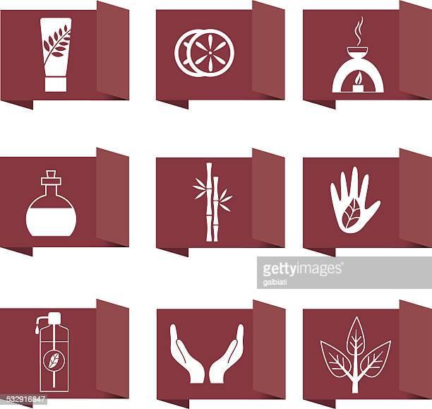 Schönheits- und spa-Symbole