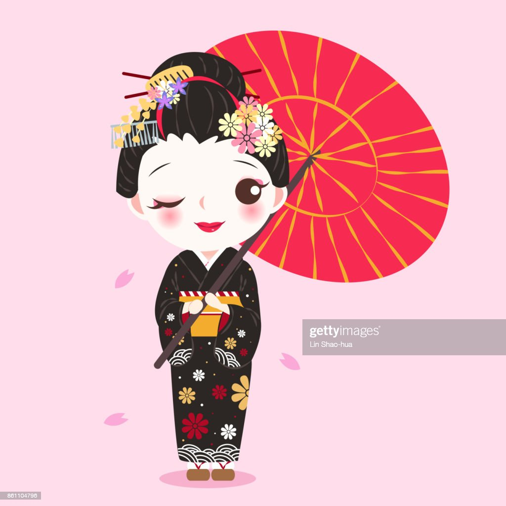 beauty cartoon geisha