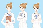 beauty cartoon woman doctor